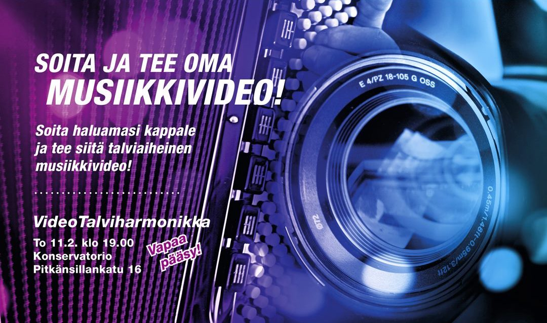 VideoTalviharmonikka—Thursday's experiment was a success!